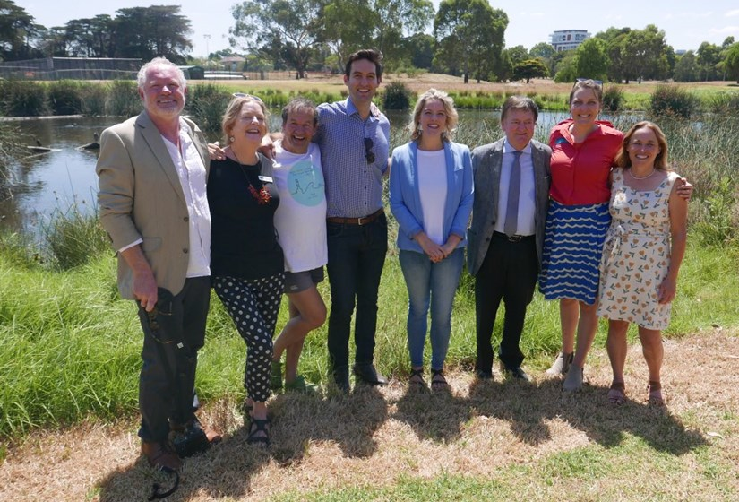 Clare O'Neil, Josh, Mayors, Port Phillip Eco Centre and Elsternwick Park Association